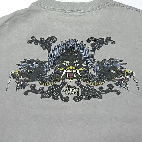 【USED】90'S STUSSY DORAGON T-SHIRT
