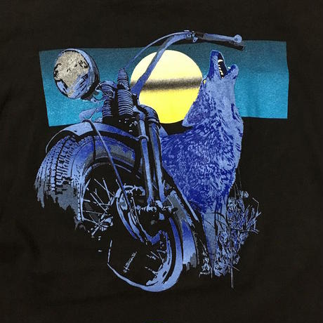 【USED】90'S HARLEY WOLF T-SHIRT