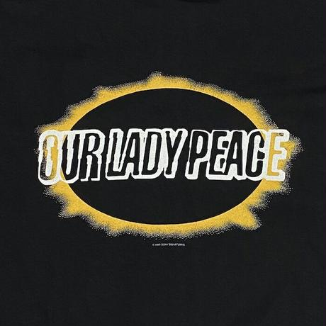 """【DEAD STOCK】90'S OUR LADY PEACE """"BUDDHA"""" T-SHIRT"""