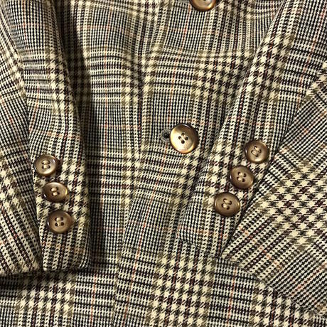 【USED】VINTAGE CLASSIC CHECK TAILORED JACKET