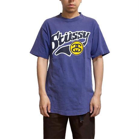 【USED】90'S STUSSY SCHOOL STYLE LOGO T-SHIRT