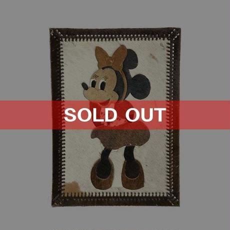 【USED】80'S MINNIE MOUSE UNBORN CARF PATCHWORK WALL TAPESTRY