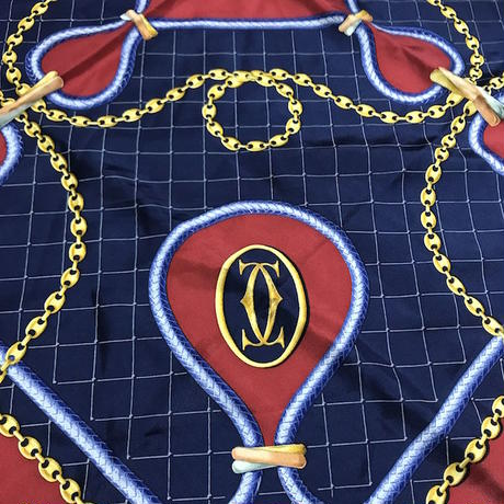 【USED】VINTAGE CARTIER SILK SCARF