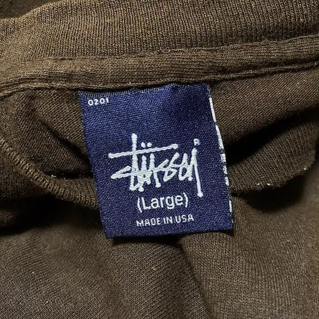 【USED】90'S STUSSY ANTHRAX-ISH LOGO T-SHIRT
