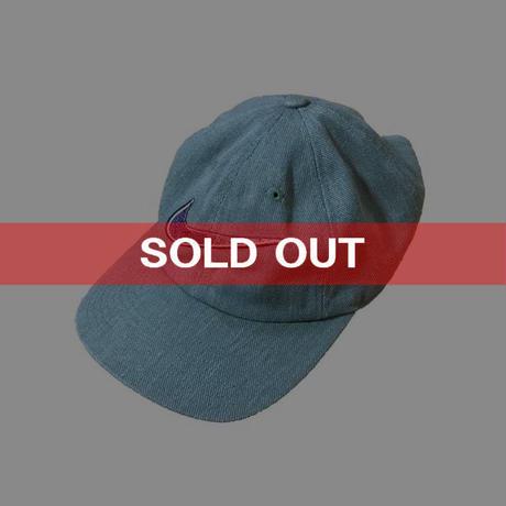 【USED】90'S NIKE SWOOSH EMBROIDERY CAP GL AY