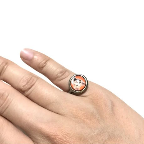 【USED】CAT CABOCHON RING