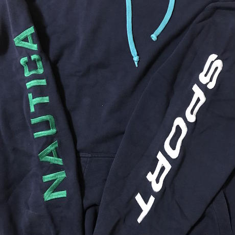【USED】90'S NAUTICA EMBROIDERY HOODIE