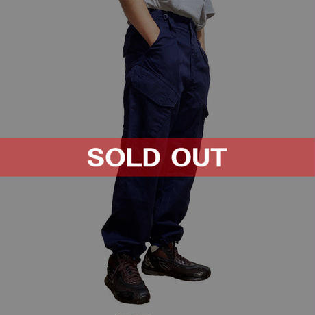 【USED】90'S-00'S BRITISH ARMY ROYAL NAVY COMBAT TROUSERS  (⑤ PIERCE)