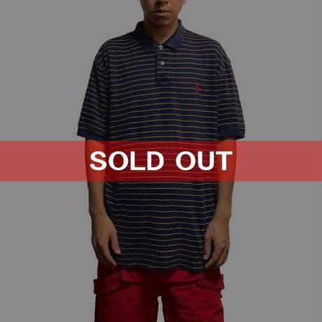 【USED】POLO BY RALPH LAUREN BORDER POLO SHIRT