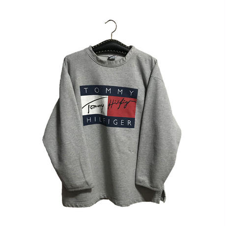 【USED】90'S TOMMY HILFIGER FLAG PRINT SWEATSHIRT