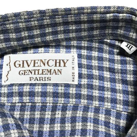 【USED】70'S GIVENCHY CHECK SHIRT