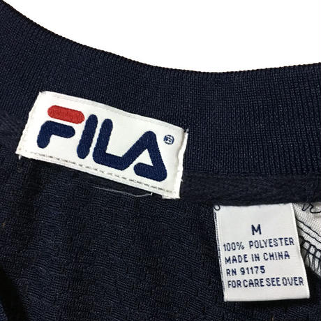 【USED】90'S FILA FOOTBALL T-SHIRT NAVY
