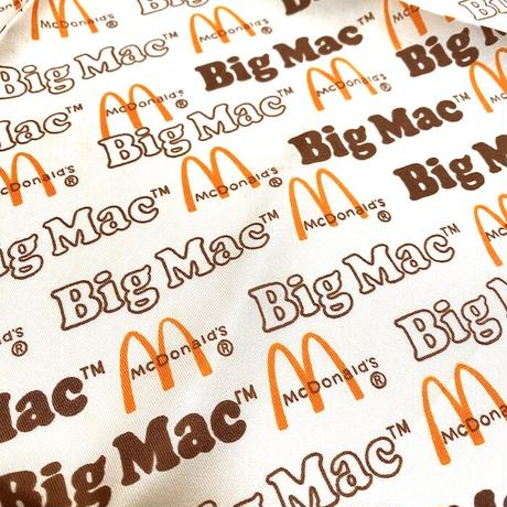 【USED】90'S MCDONALD BIG MAC POLYESTER SCARF MADE IN ITALY