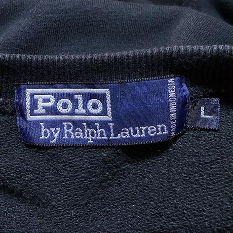 【USED】90'S POLO BY RALPH LAUREN MALTI NATIONAL FLAG LOGO SWEAT SHIRT