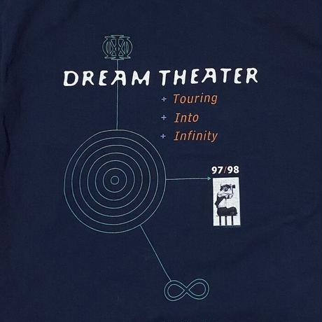 """【DEAD STOCK】90'S DREAM THEATER """"TOURING INTO INFINITY"""" T-SHIRT"""