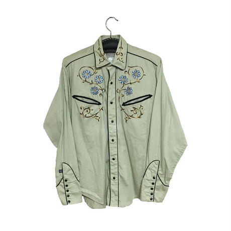 【USED】EMBROIDERY WESTERN SHIRT