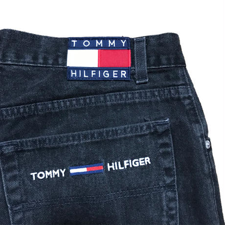 【USED】90'S TOMMY JEANS DENIM SHORTS BLACK