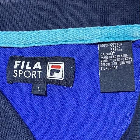【USED】90'S-00'S FILA SPORT L/S POLO SHIRT