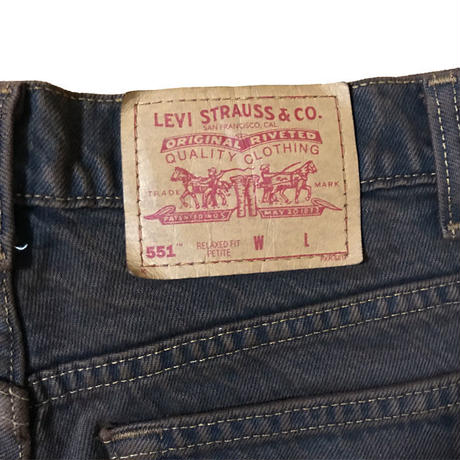 【USED】LEVI'S CUT OFF DENIM SHORTS BROWN