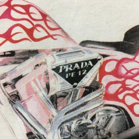 【DEAD STOCK】PRADA FIRE PATTERN HARLEY T-SHIRT