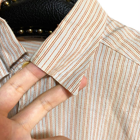 【USED】90'S EMPORIO ARMANI STRIPE SHIRT