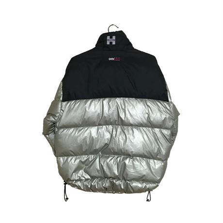 【USED】90'S TOMMY HILFIGER DOWN JACKET SILVER