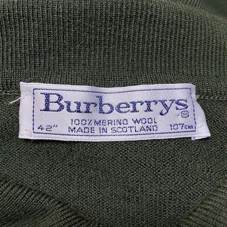 【USED】90'S BURBERRYS PURE WOOL L/S POLO SHIRT