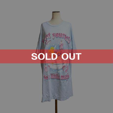 【USED】90'S DISNEY SLEEPWEAR TINKER BELL T-SHIRT DRESS