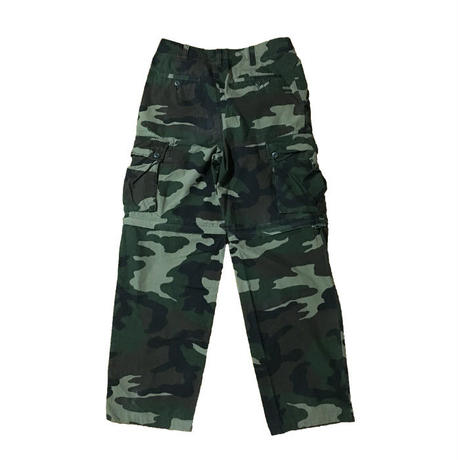 【USED】2-WAY CAMO CARGO PANTS