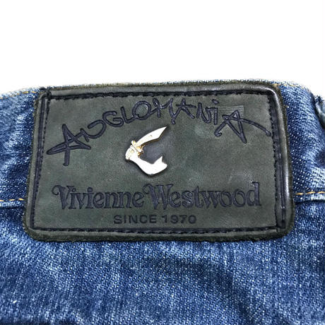 【USED】90'S  ANGLOMANIA LOGO DENIM PANTS