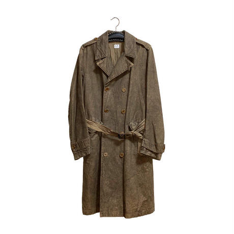 【USED】00'S C.P.COMPANY COTTON HEMP TRENCH COAT