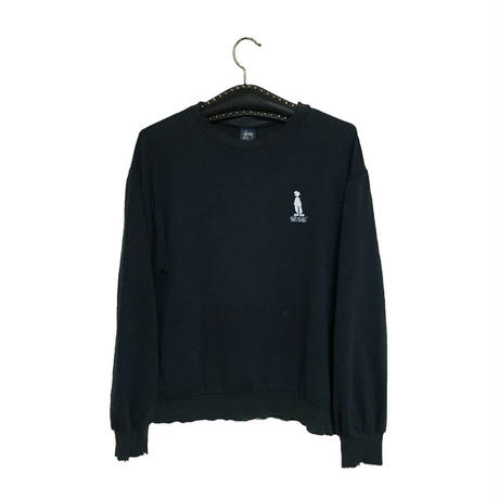 "【USED】90'S STUSSY SWEATSHIRT ""SHADOW MAN"""