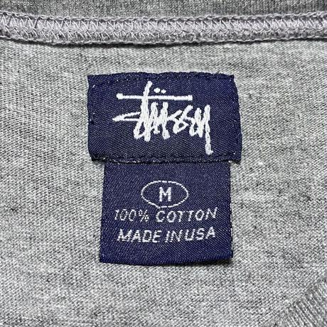 【USED】90'S STUSSY POCKET L/S T-SHIRT