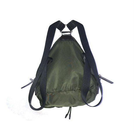 【USED】VINTAGE PRADA NYLON MINI BACKPACK GREEN