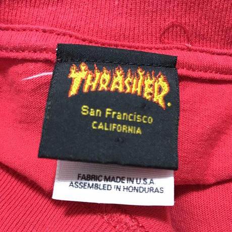 【USED】00'S THRASHER FIRE LOGO T-SHIRT