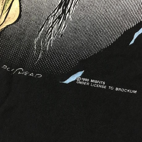 【USED】90'S MISFITS × PUSHEAD T-SHIRT