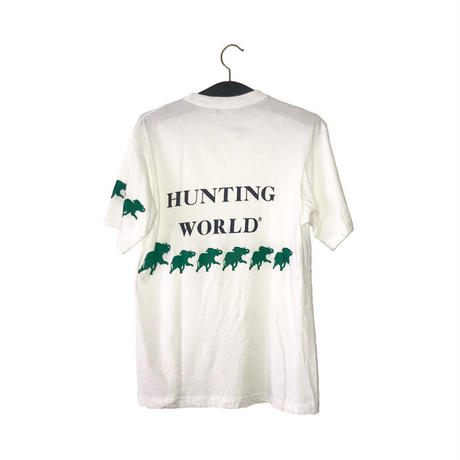 【USED】90'S HUNTING WORLD T-SHIRT