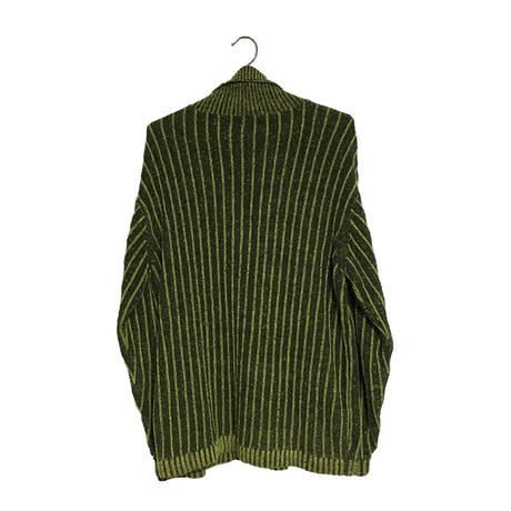 【USED】OVERSIZED HIGH NECK KNIT TOP