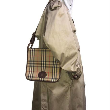 【USED】80'S BURBERRYS NOVA CHECK SHOULDER BAG