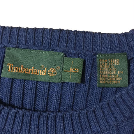 【USED】TIMBERLAND COTTON SWEATER