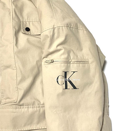 【USED】90'S-00'S CK CALVIN KLEIN JEANS PULLOVER PADDED JACKET