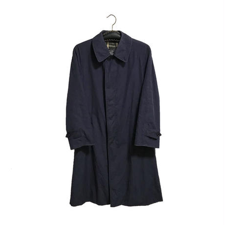 【USED】80'S BURBERRYS STAND FALL COLLAR COAT NAVY MADE IN ENGLAND