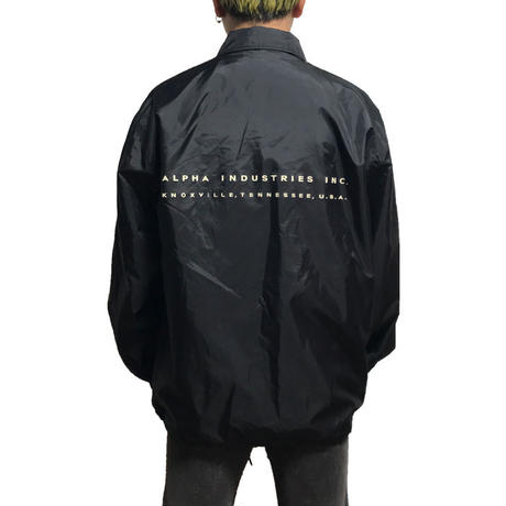 【USED】00'S ALPHA COACH JACKET BLACK