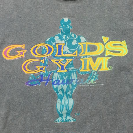 【USED】90'S GOLD'S GIM HAWAII T-SHIRT