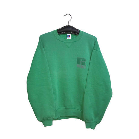 【USED】90'S RUSSELL ATHLETIC SWEAT SHIRT LIME GUREEN
