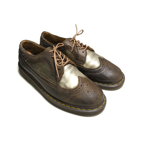 【USED】DR. MARTENS WING TIP SHOES GOLD