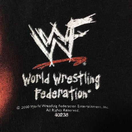 【USED】00'S WORLD WRESTLING FEDERATION T-SHIRT