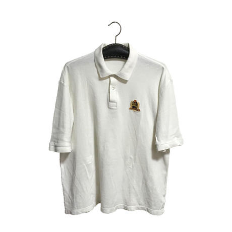 【USED】90'S BURBERRYS POLO SHIRT WHITE