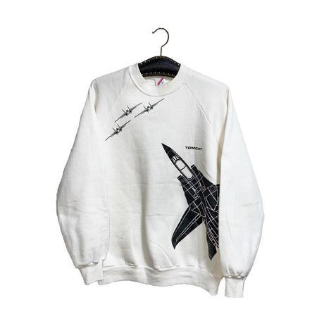 【USED】80'S F-14 TOMCAT SWEATSHIRT