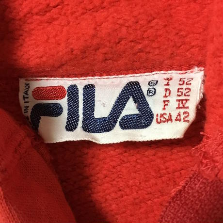 【USED】90'S FILA PULLOVER HOODIE MADE IN ITALY